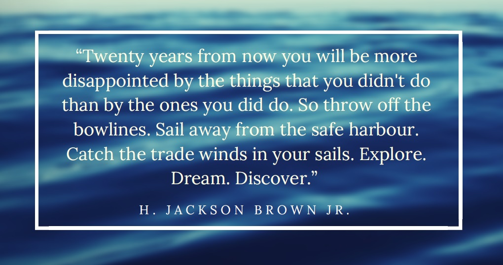 Sail away from the safe harbour